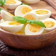 Gekochte Eier in Schale