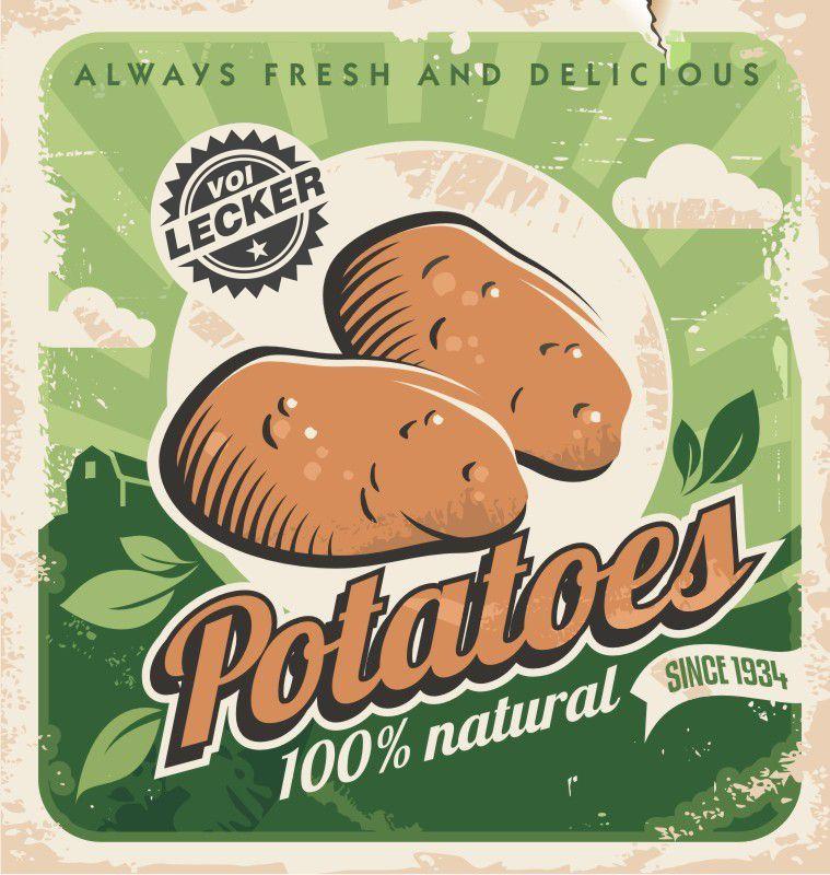 Vintagge Werbung für Kartoffeln