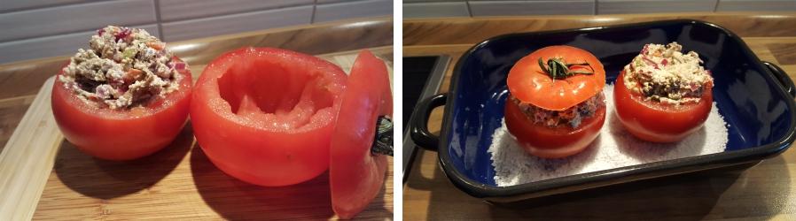 Gefüllte Tomaten für Gyros
