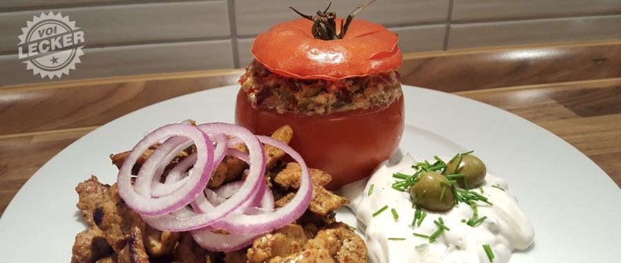 Gyros mit Feta-Gemüse-Pfifferlings-Bombe