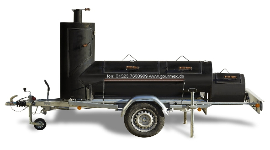 Mega Smoker für Barbecue Catering