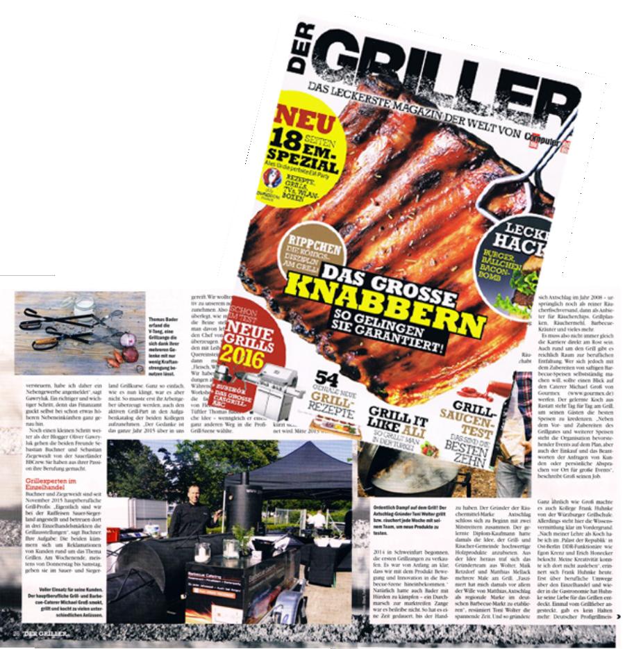 "Barbecue Catering Bericht im ""Der Griller"""