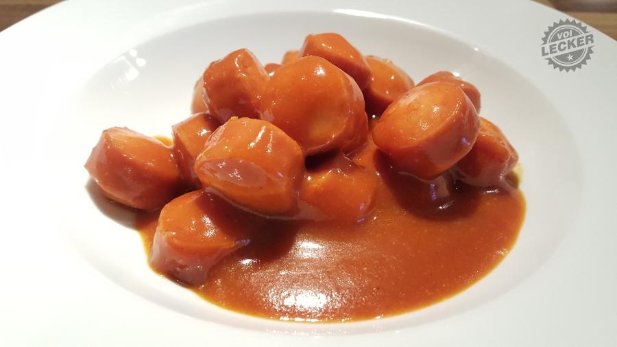 CurryKing auf weissem Suppentelller
