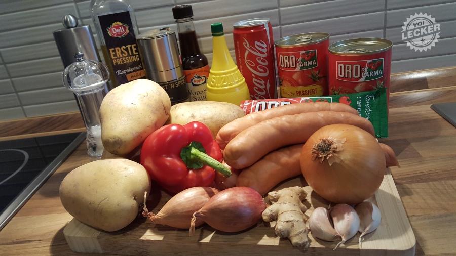 Zutaten für Currywurst Rezept