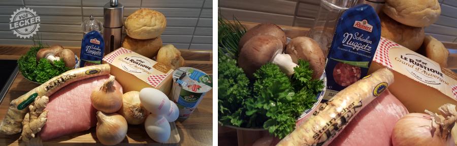 Zutaten für Käseknödel
