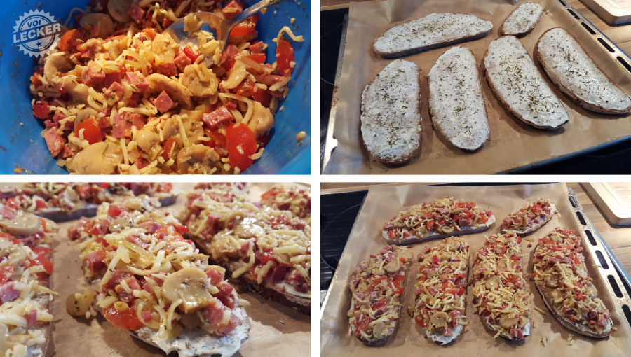 Pizzabrot Zubereitung