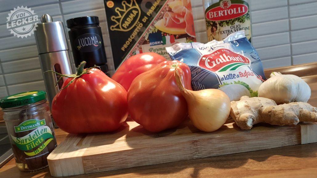 Zutaten für gefüllte Tomaten