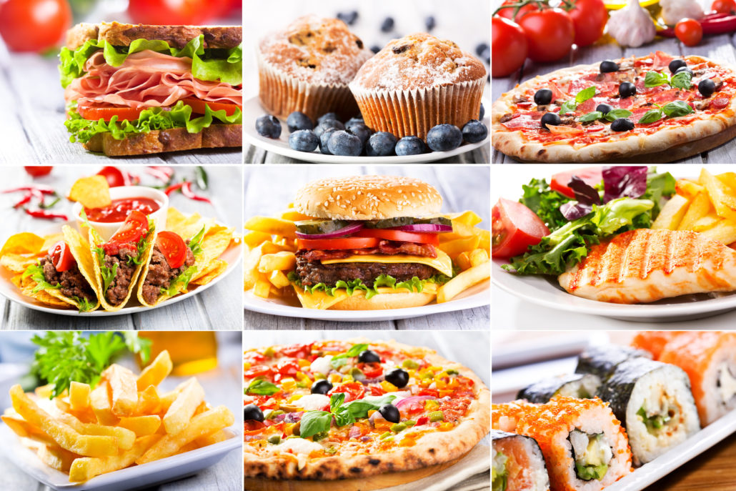 Collage mit Foodtrends 2018