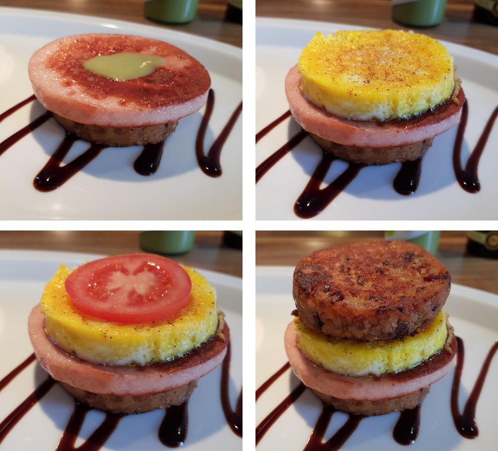 Knödel Burger Bau