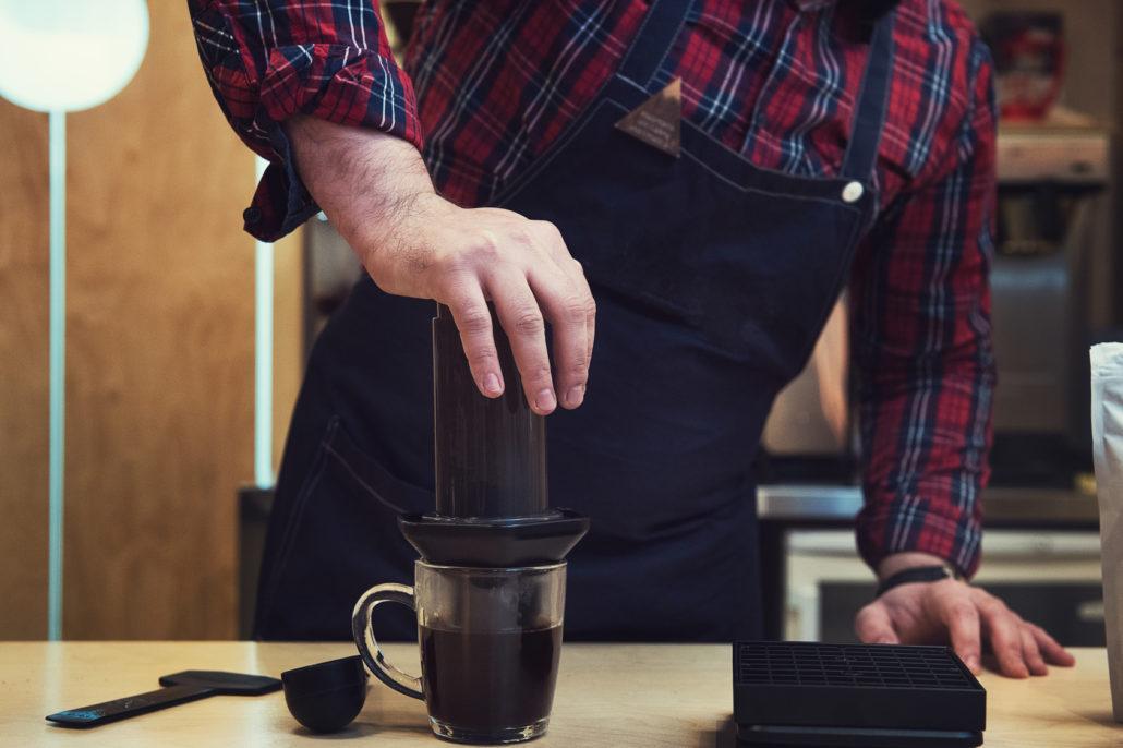 Kaffe kochen mit AeroPress