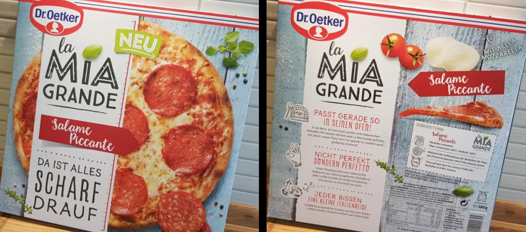 La Mia Grande Pizza Von Dr Oetker Tiefkühl Pizza Wie Von Der