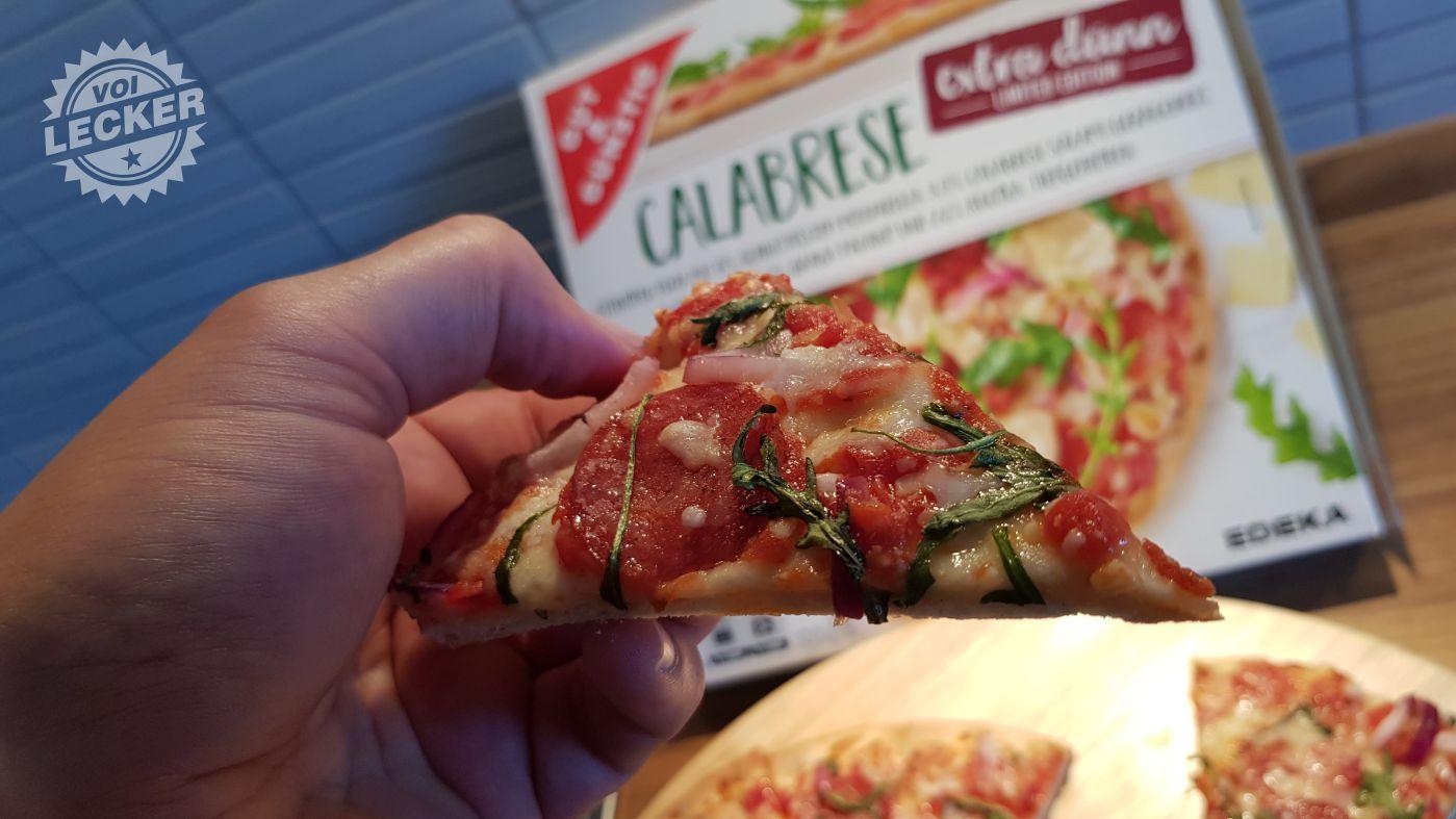 Pizzastück Calabrese