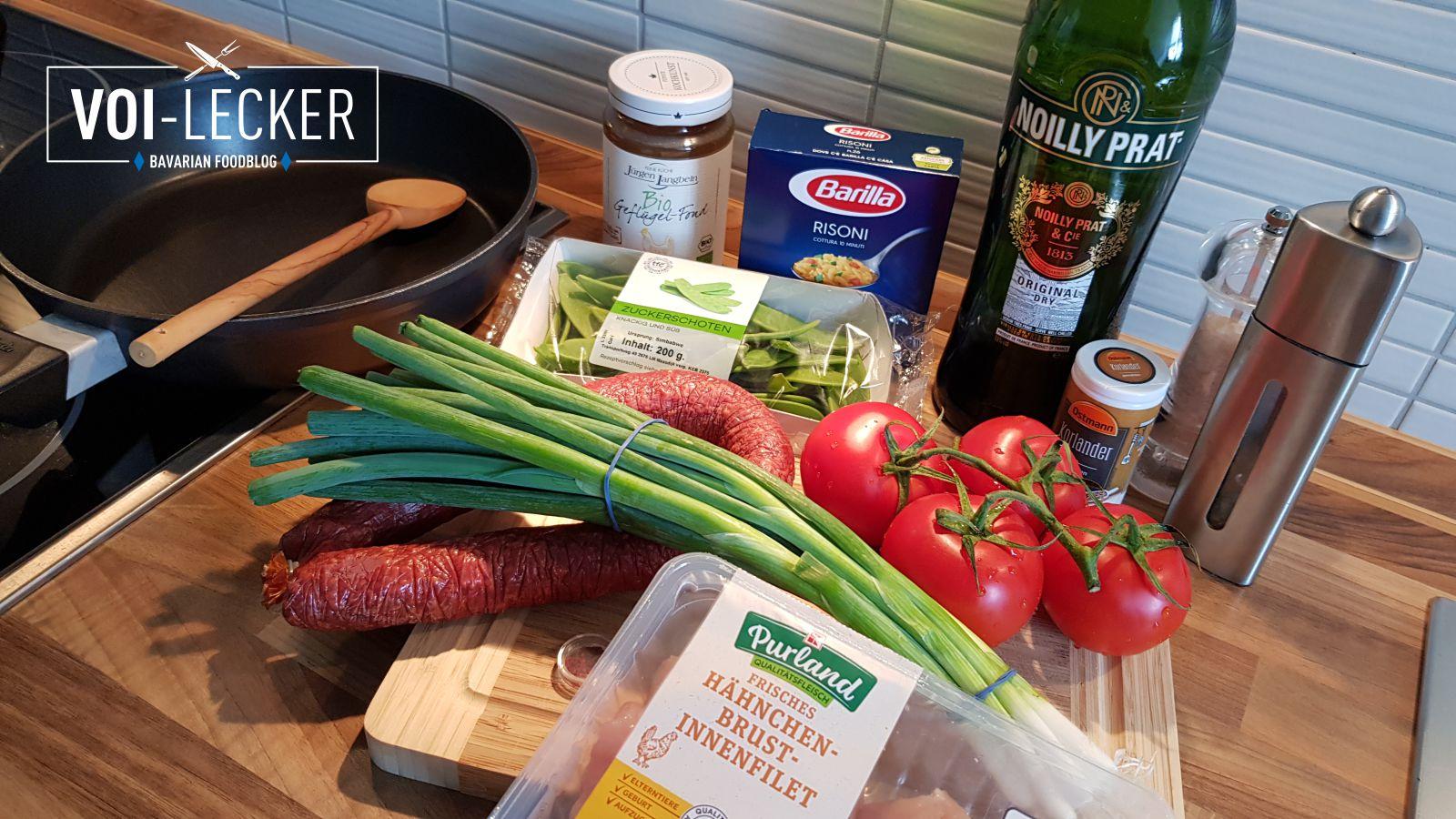 Zutaten für Nudel-Paella