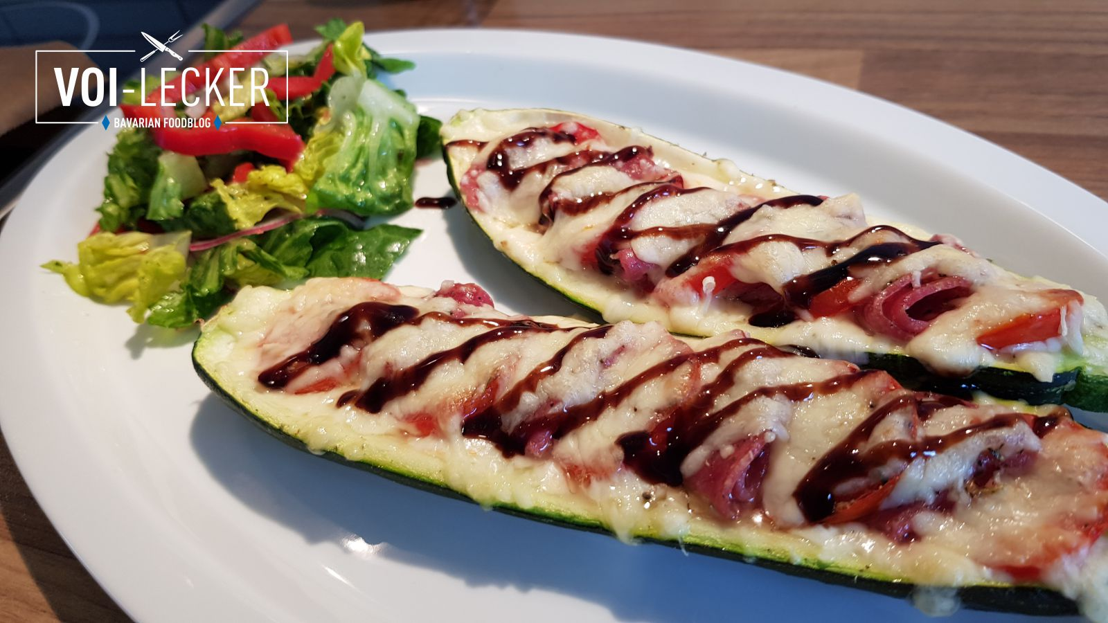 Zucchini Pizza Schiffchen