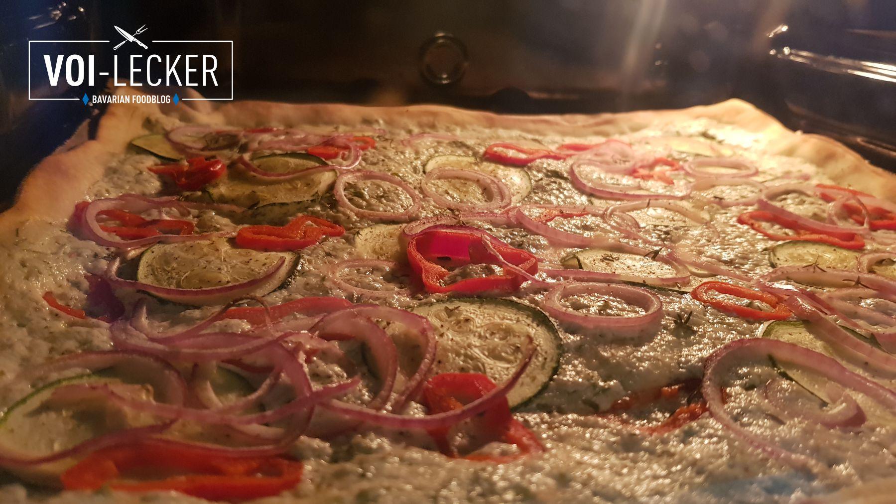 Zucchini Pizza im Backofen