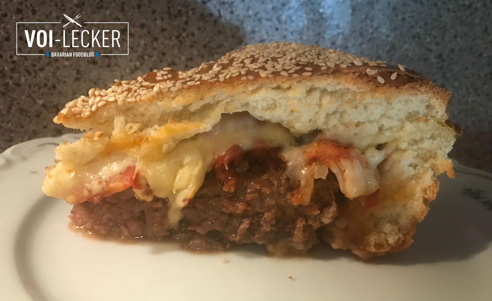 Ofen-Cheeseburger