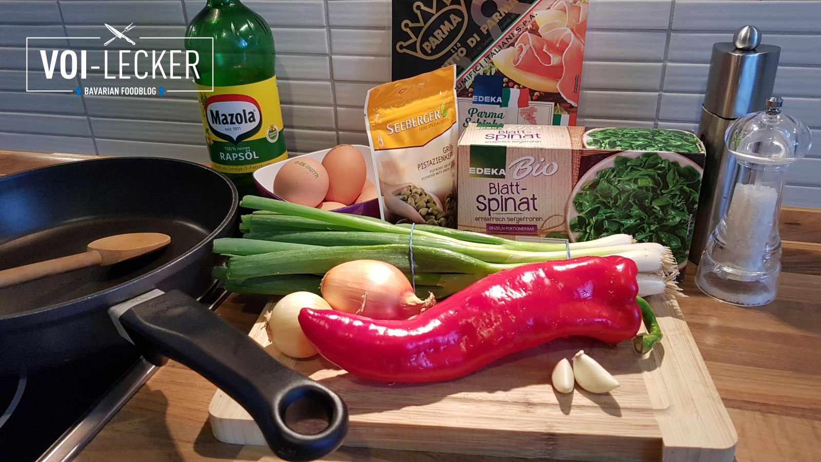 Zutaten für Spinat Frittata