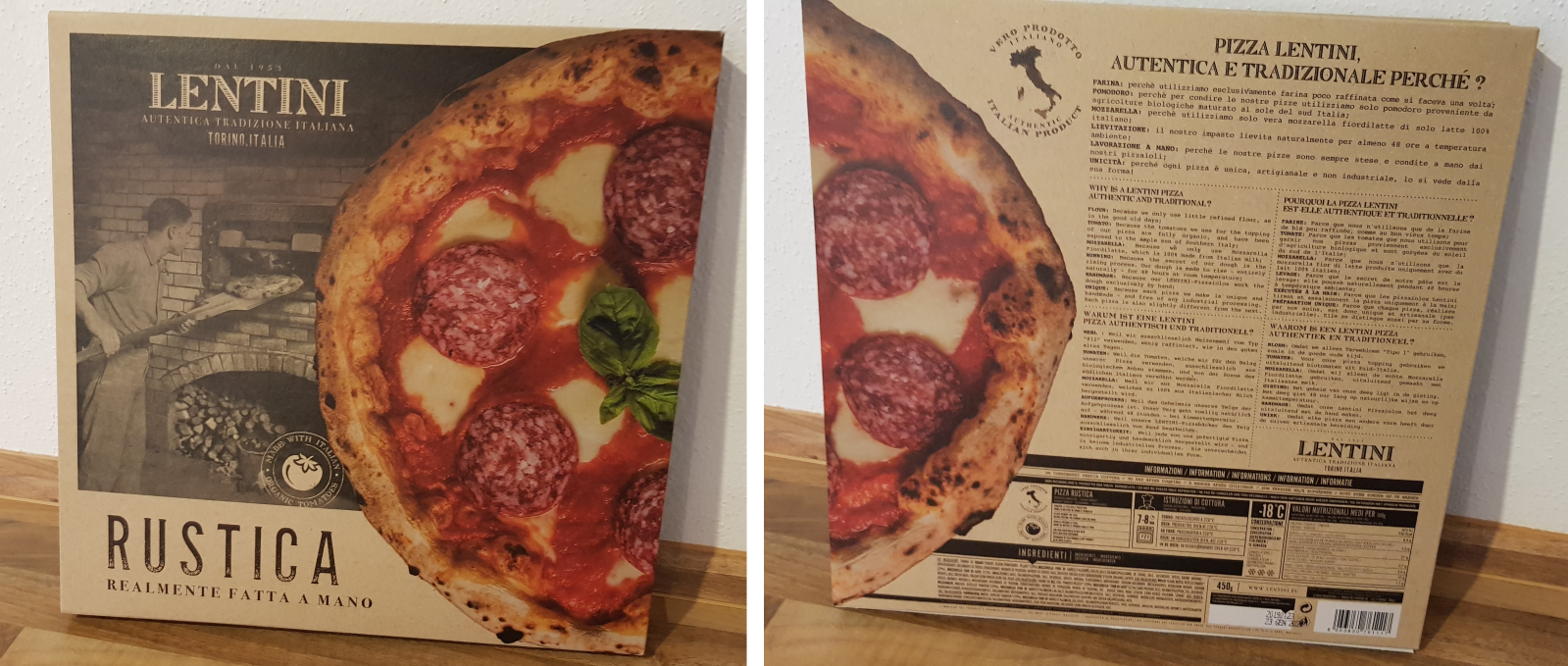 Lentini Pizza Verpackung