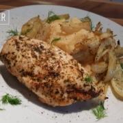 Hühnerbrust mit Ofenfenchel und Kartoffelstampf