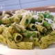 Rigatoni mit grünem Spargel